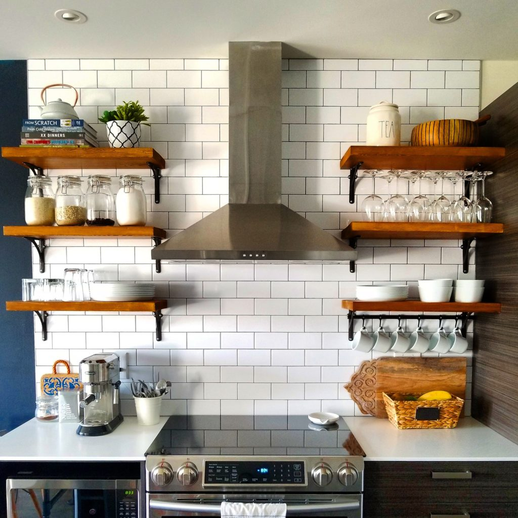 open kitchen shelving open kitchen shelving how to build and mount kitchen shelves 31229
