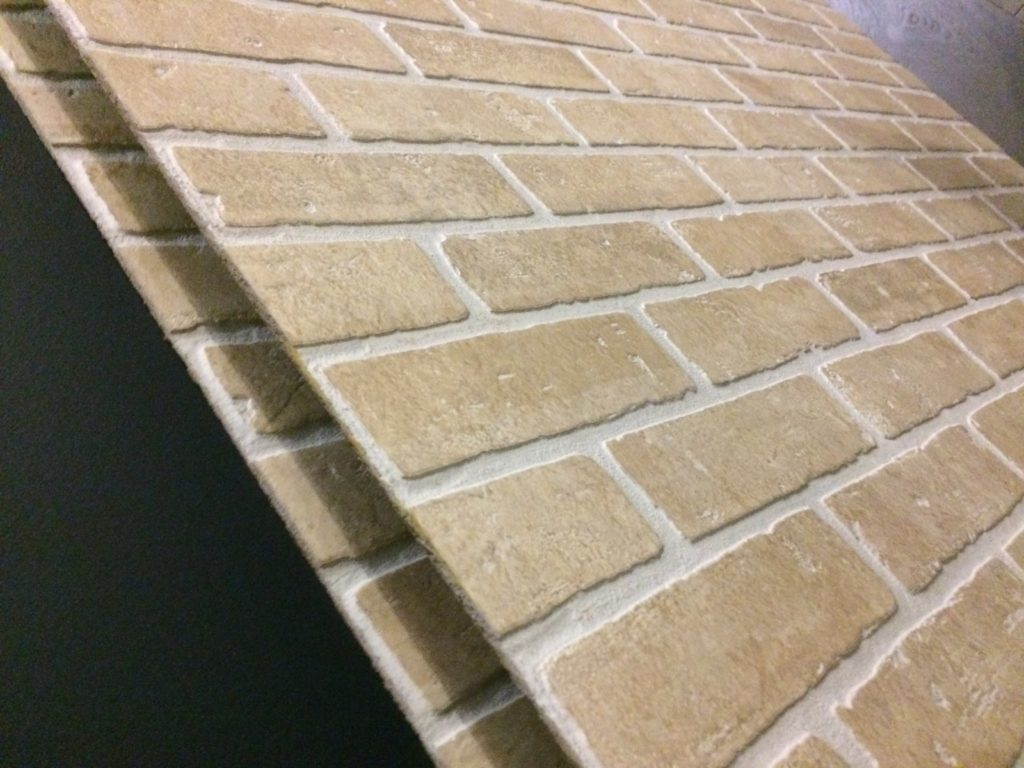 faux brick wall panel rona