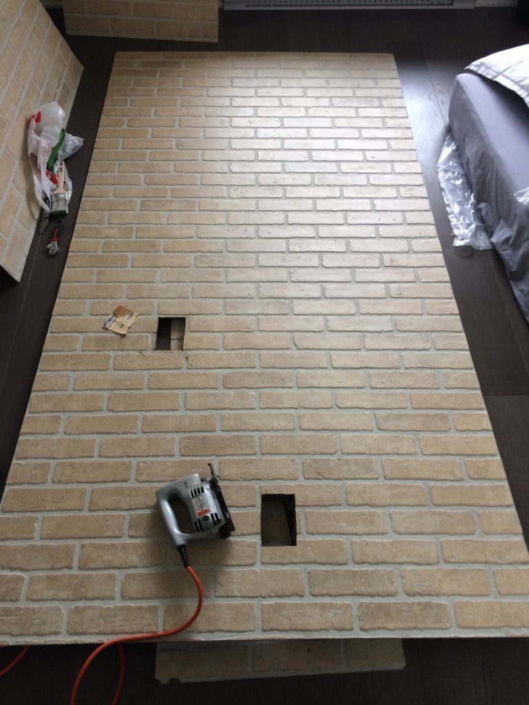 diy faux brick panel jigsaw