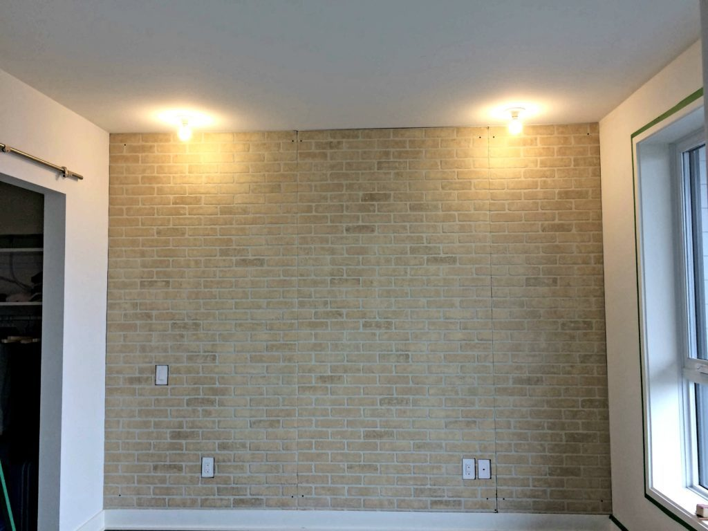 Installing faux brick wall panel rona