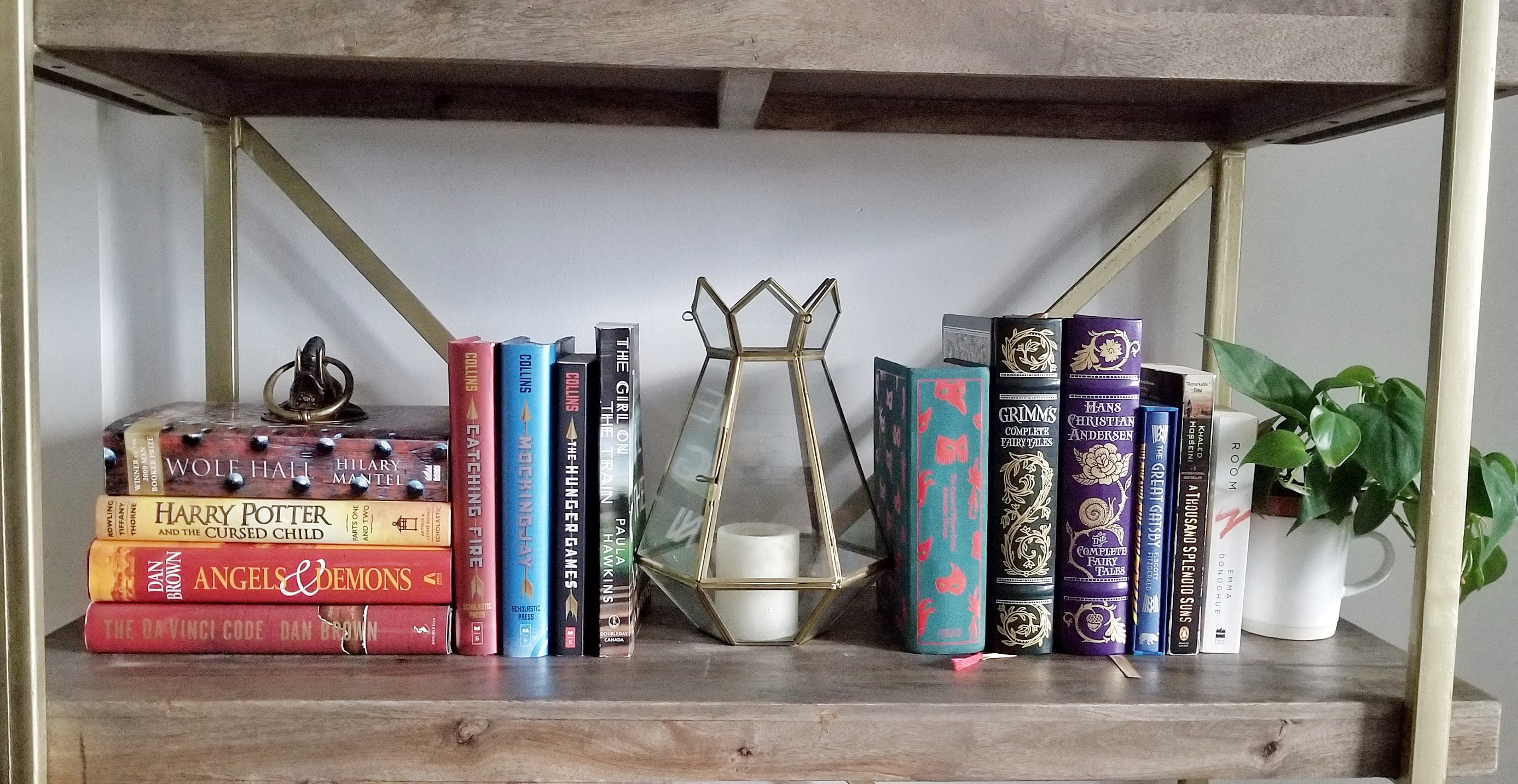Plant decoration bookshelf