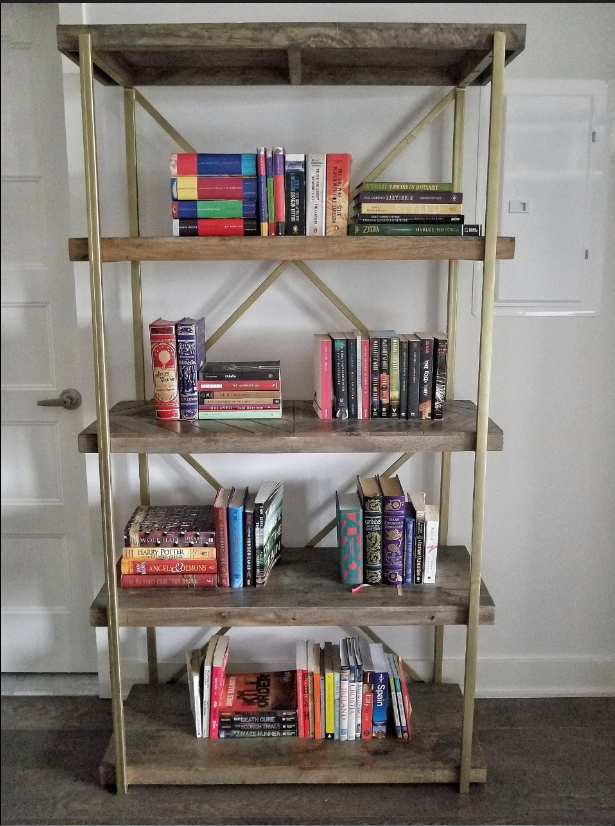 bookshelf with just books