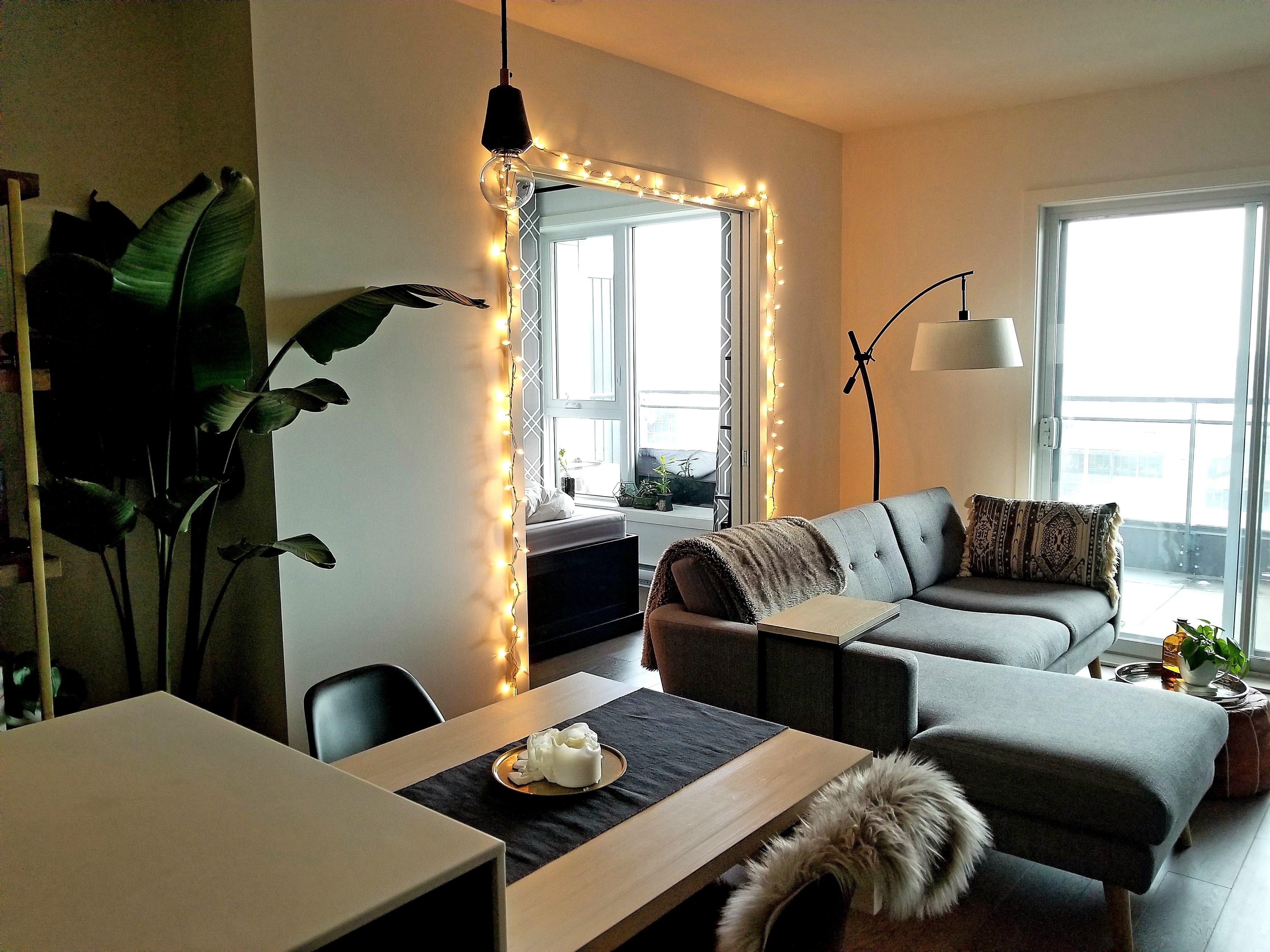 Christmas lights door frame