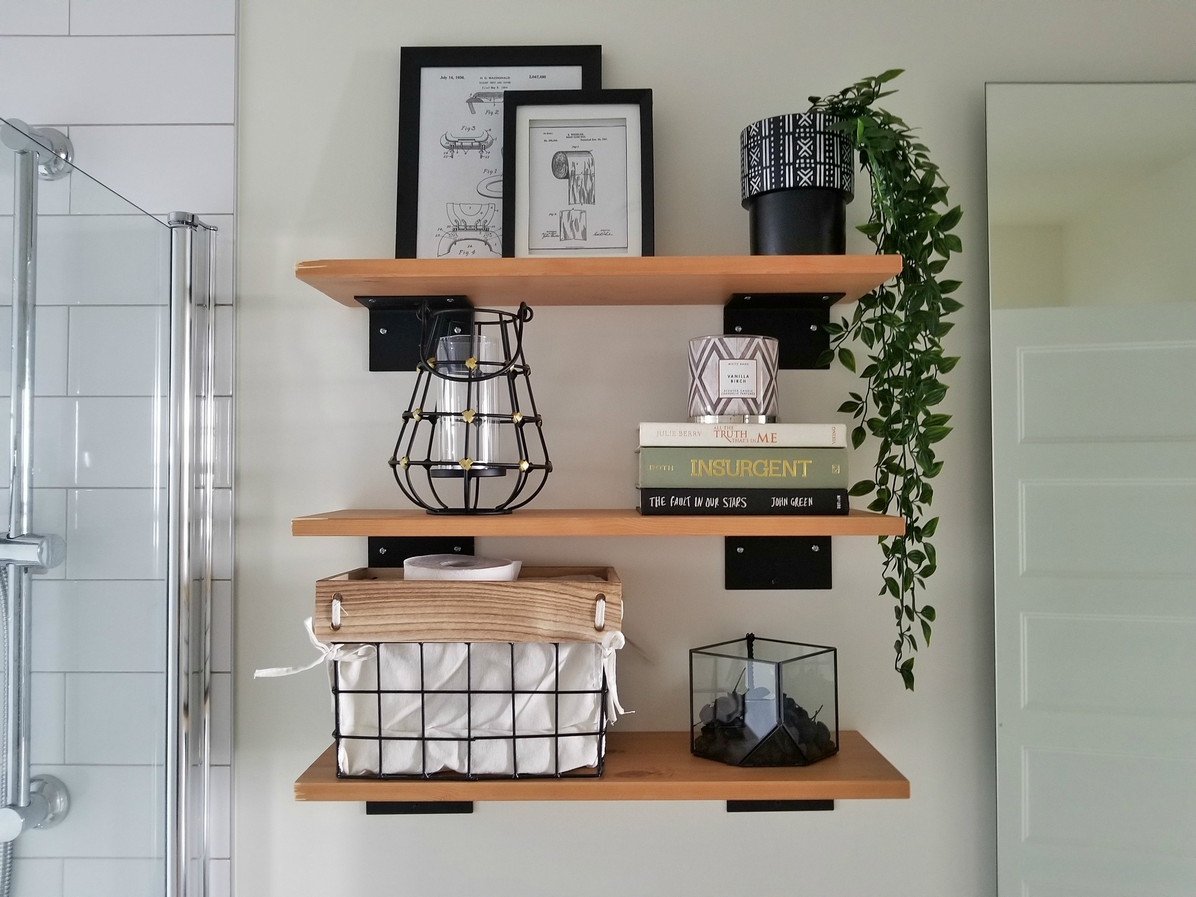 ikea wall shelves how to hang shelves in 3 easy steps. Black Bedroom Furniture Sets. Home Design Ideas